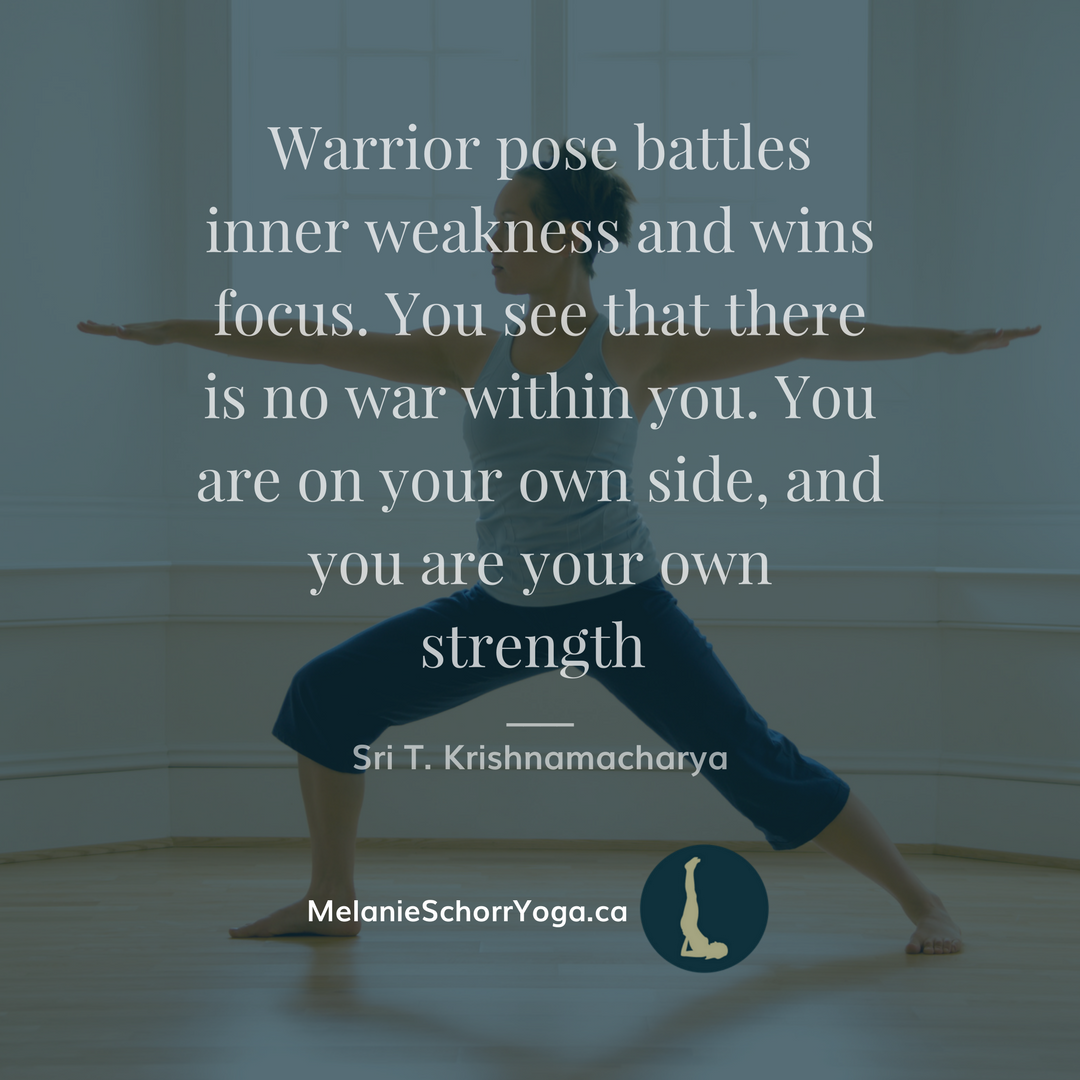 warrior pose yoga