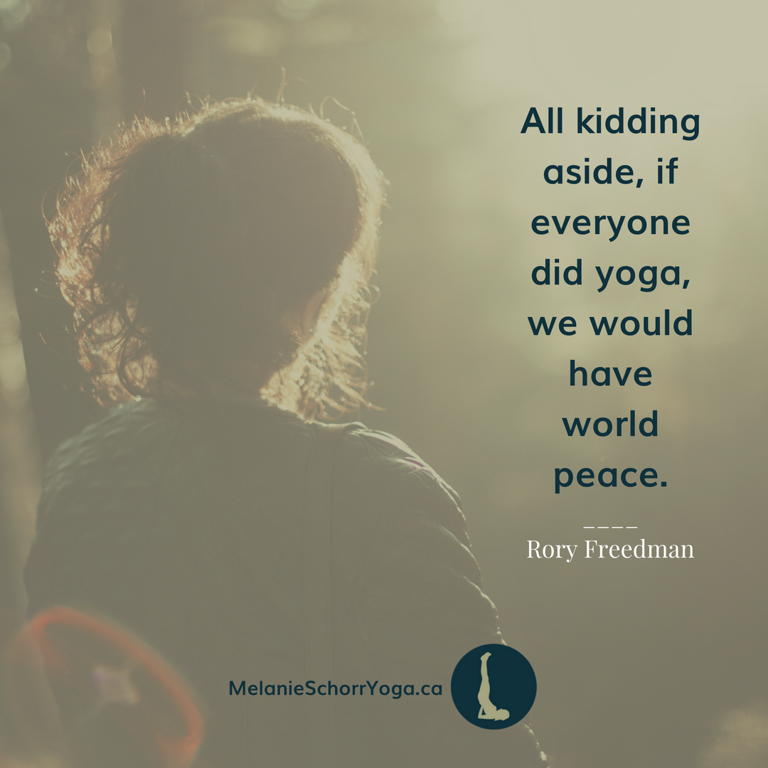 yoga can bring world peace